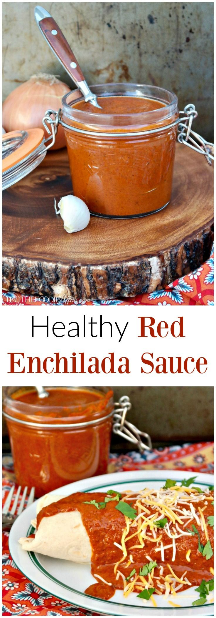Healthy Red Enchilada Sauce is the base for many Latin dishes. Simple to make with added vegetables and spices for a clean tasting sauce!
