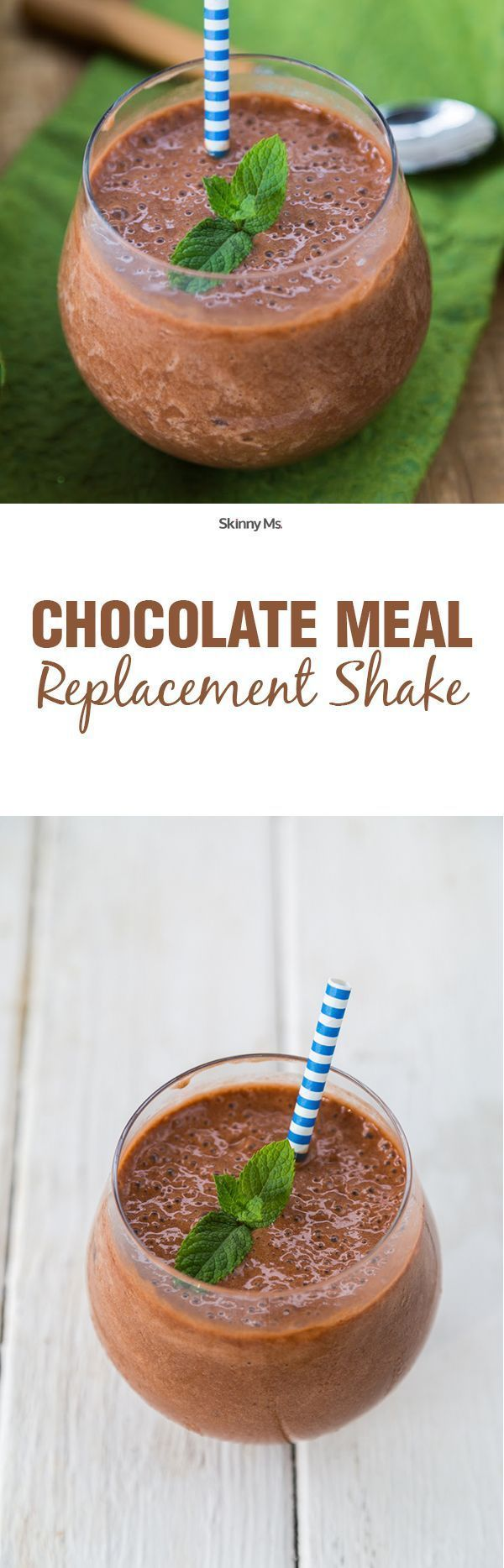 Chocolate Meal Replacement Shake - The perfect thing to grab when you're in a pinch!