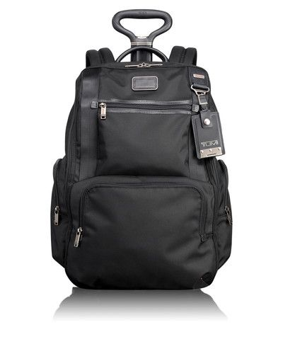 A grown-up version of the backpack with wheels.  Makes managing heavy electronics on a long trip or everything for a weekend holiday so much more civilized!  Best of all, it fits under the seat - even on a commuter plane!!