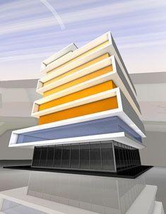 Administrative building VISTA, architecture by Artlandia