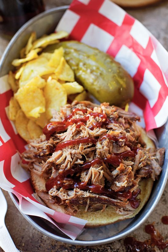 This crazy delicious pulled pork couldn't be easier to make! Season, braise, simmer and let your oven do the rest!