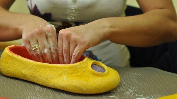 great felt slipper tutorial