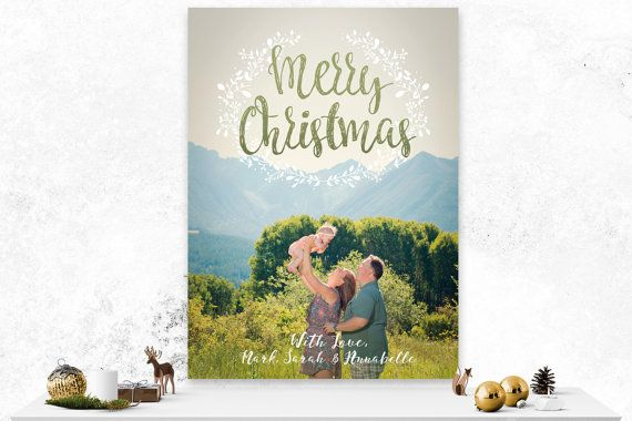 Christmas Card  Custom Holiday Card  Photo by IspiratoPrintables