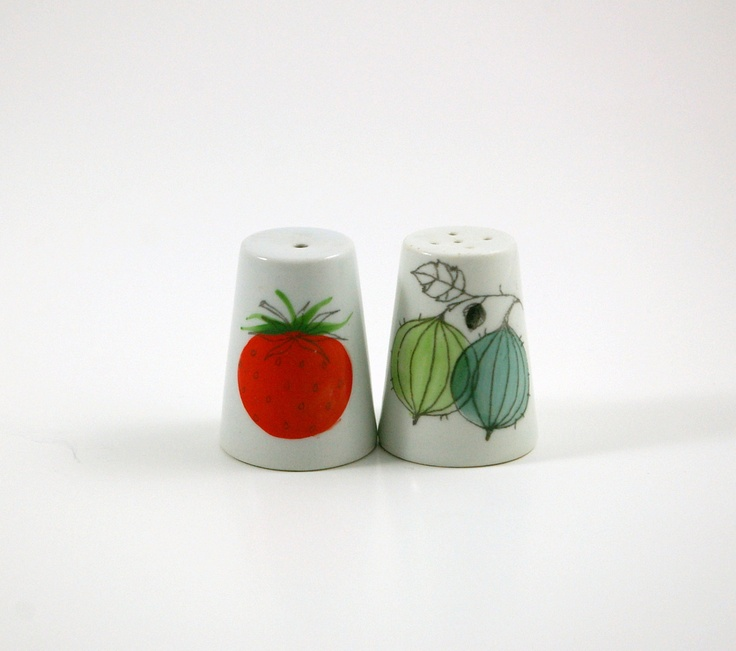 Arabia of Finland Marja Berries Salt and Pepper Shakers - Designed by Esteri Tomula. $110.00, via Etsy.