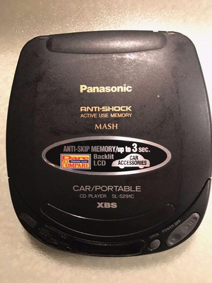 Panasonic Car/Portable CD Player SL-S291C XBS Anti-Shock System  #Panasonic