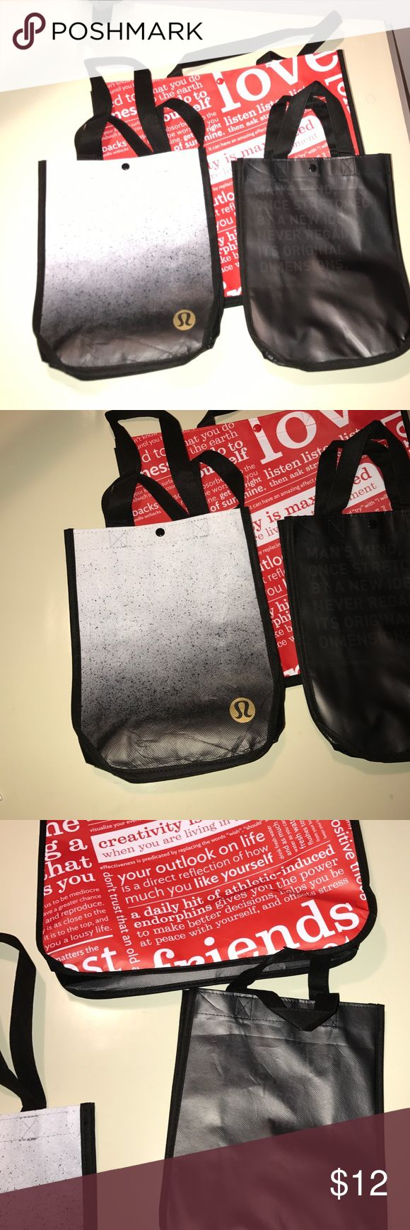 Lot of 3 Lululemon bags 1 large and 2 small. Great for xmas. Ships fast. lululemon athletica Bags