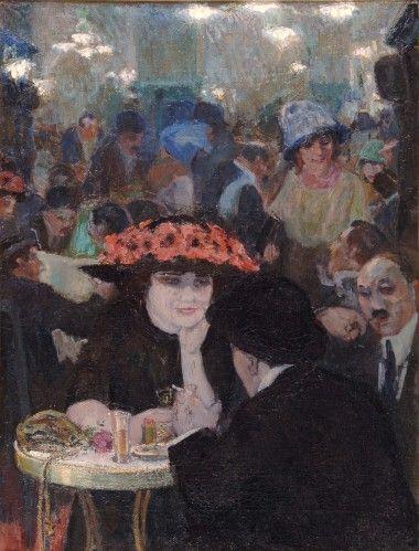 Painting by Leo Gestel (1881-1941), Café de la Nuit.
