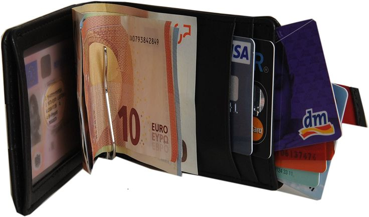 Kreditkartenetui mit Klammer für bis zu 12 Karten: Brieftasche mit Kartenetui, Ausweistasche, Portemonnaie mit Spange, Geldbeutel mit Geldklammer, Portmonee mit Clip, Geldtasche, Geldbörse