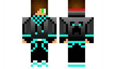 minecraft skin blue-creeperkiller