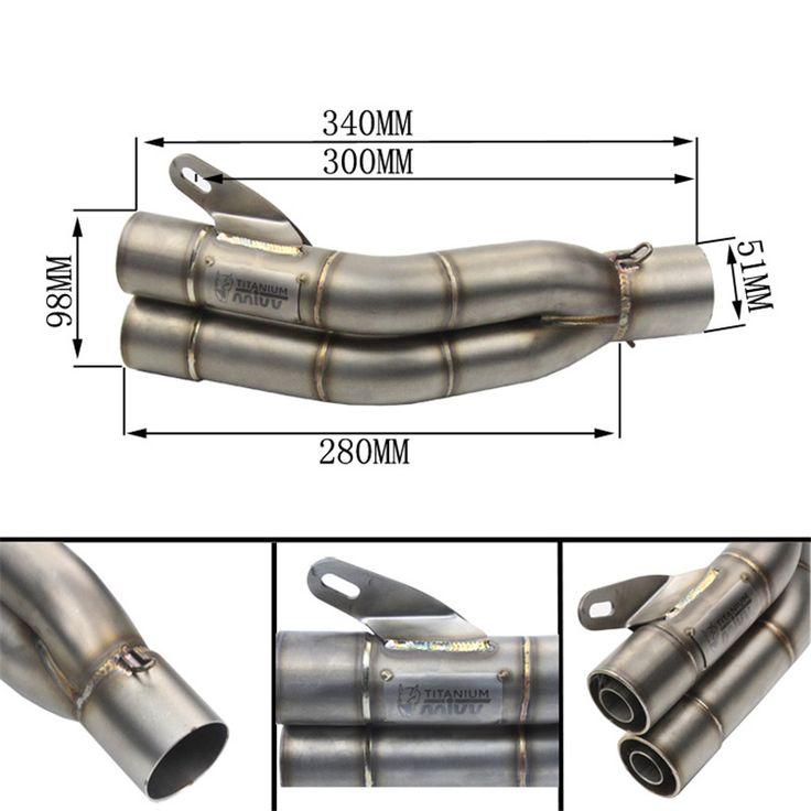 Tomefonオートバイ部品バイク排気パイプmivvサイレンサーダブル出口排気マフラー用カワサキz800非破壊