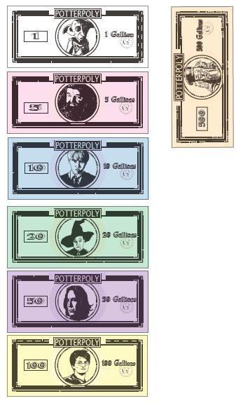 Billets Monopoly Harry Potter – #Billets #etsy #Harry #Monopoly #Potter