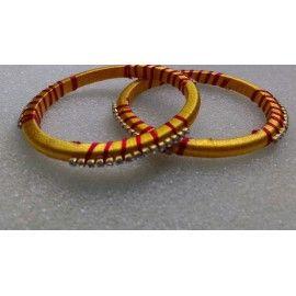 Bangle pair made up of silk thread