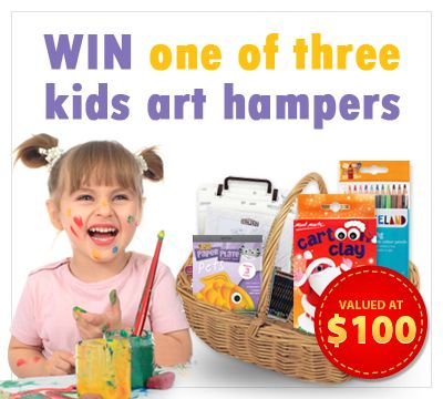Win one of three Kids Art Hampers valued at $100