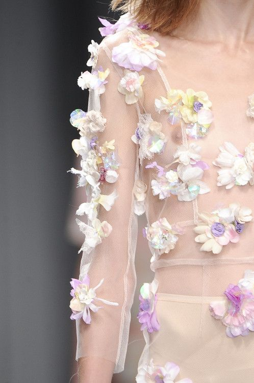 : Fashion, Inspiration, 2011 Details, Style, Anastase Spring, Dress, Flowers, Spring 2011