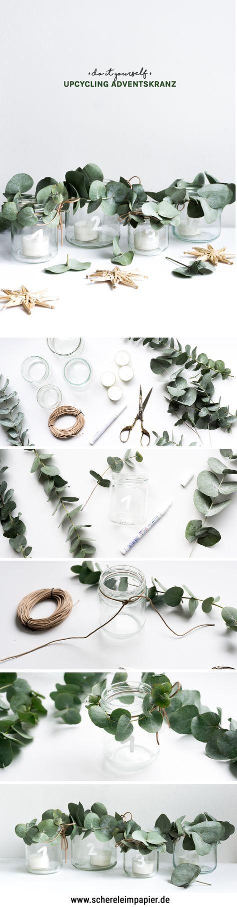 DIY Adventskranz – eine Upcycling Idee mit Altglas
