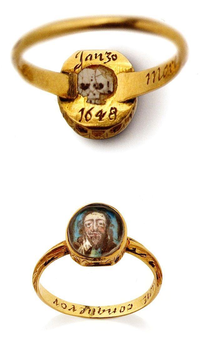 Memorial Ring Memento Mori Ring Dating From The 17th Century