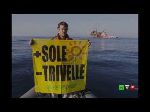 Greenpeace in azione presso la Piattaforma VEGA A - Slideshow - www.HTO.tv