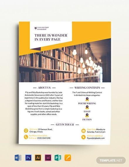 Book Store Tri-Fold Brochure | Brochure design template