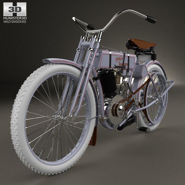 Harley-Davidson model 2 1906 3d model from humster3d.com. Price: $75