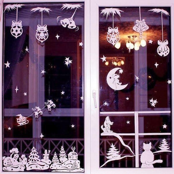 DIY Christmas Window Stickers Templates