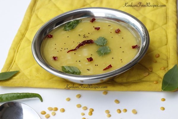 Tempered Lentils. Indian Daal Recipe. Konkani cuisine style. King of Konkani cuisine - Dalithoy. Fondly known as daat dalithoy or DDT. :) Recipe from KonkaniFoodRecipes.com