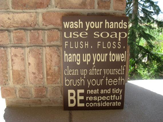 bathroom rules...: Bathroom Rules, Boys Bathroom, Kids Bathroom, Bathroom Subway Art, Kids Room Bathroom, Bathroom Ideas, Boy S Bathroom, Kid Bathrooms