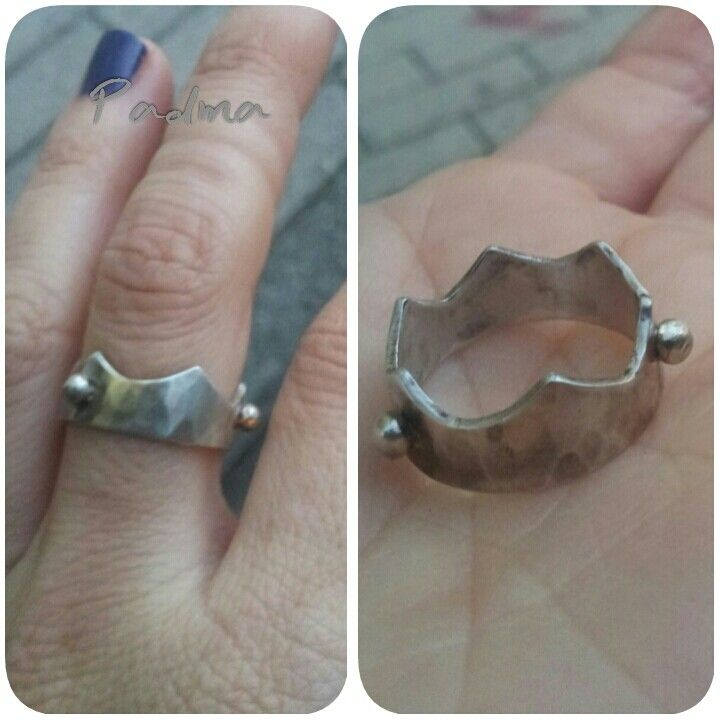 Crown ring, silver ring by Padma Jewels
