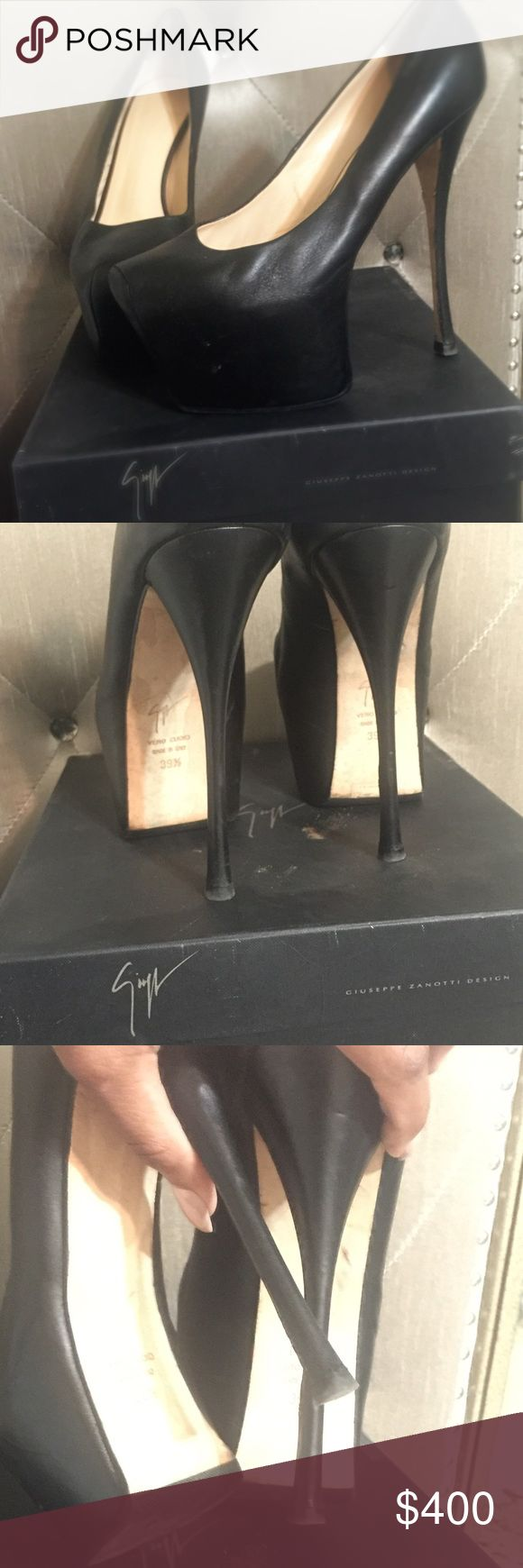 """Giuseppe Zanotti Cleaning out my closet!! All items are 100% authentic!! I don't wear, sell, or purchase """"inspired"""" items!!!!! Dust bag included! Soles are black rubberized by Leather spa, NY! Serious inquiries ONLY! Additional photos available upon request! Size 39 1/2 (9 1/2B) fits true to size will negotiate Giuseppe Zanotti Shoes Heels"""