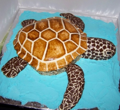 Sea Turtle Birthday Cake By cownsj on CakeCentral.com