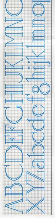 Cross-stitch Sled Stocking Font, part 1