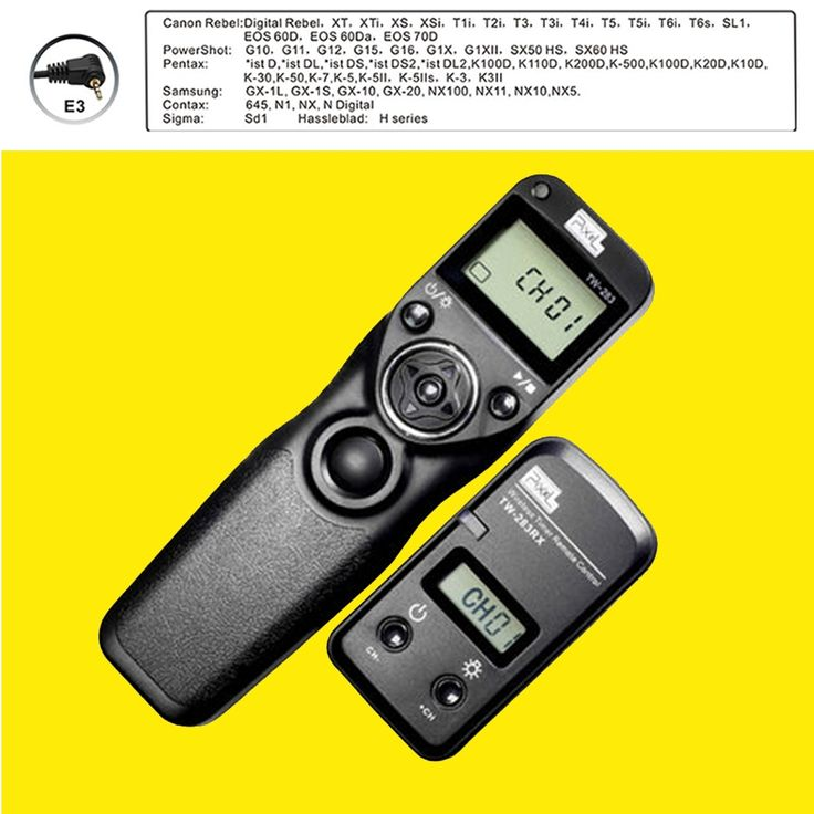 31.11$  Buy now - http://alipql.shopchina.info/go.php?t=32755667044 - Pixel TW-283 E3 Wireless Timer Remote Control for Canon G10 G11 G15 G12 G16 G1X,G1XII,SX50 HS,SX60 HS Camera Shutter Release  #magazineonline