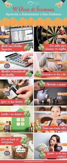 10 Dicas de economia: aprenda a administrar o seu dinheiro - Blog da Mimis…