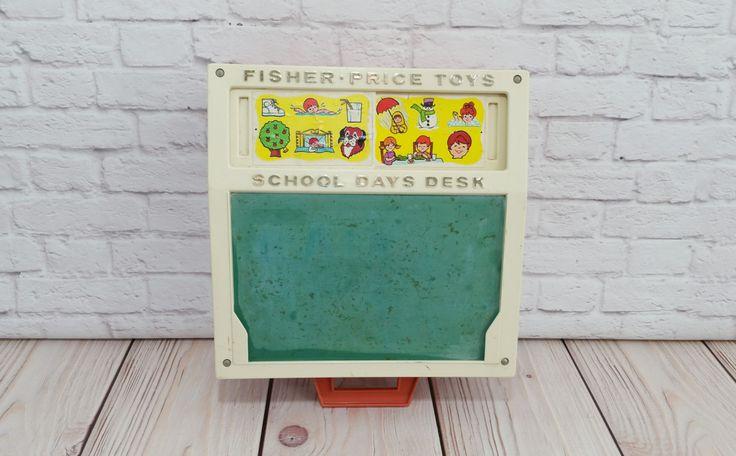 Vintage Fisher Price School Days Desk by maliasmark on Etsy