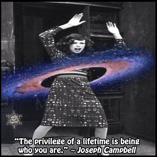 """""""The privilege of a lifetime is being who you are."""" ~ Joseph Campbell"""