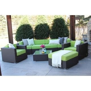 Shop for Hiawatha 8-PC Modern Outdoor Rattan Patio Furniture Sofa Set-Modular. Get free delivery at Overstock.com - Your Online Garden & Patio Shop! Get 5% in rewards with Club O! - 23121427