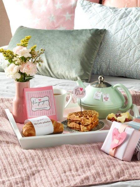 Zum Ausdrucken: Süße Etiketten für ein romantisches Frühstück