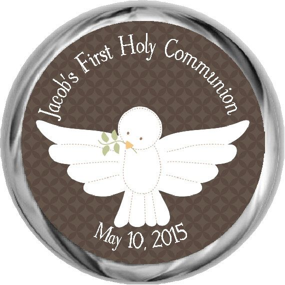 Boys First Communion Stickers  Personalized  by FabPartyPrints