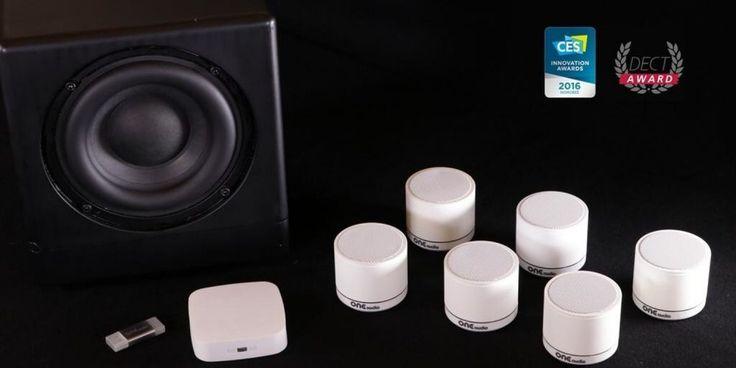 Wireless Surround-Sound Speaker System Requires No Power Cord
