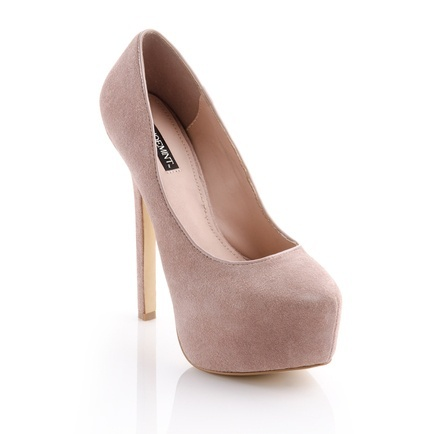 Love these dusky pink suede platform pump heels for a wedding...but how high is too high?