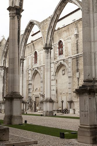 Lisbon - Museu Arqueológico do Carmo. Contains many treasures from monasteries dissolved following the 1834 Liberal revolution.