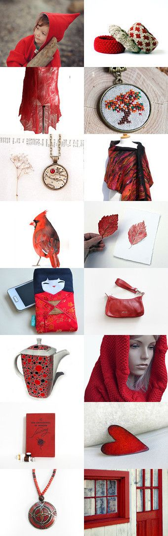 Shades of Autumn: Red by Tauriel on Etsy--Pinned with TreasuryPin.com