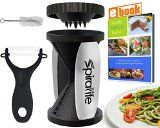 #2: The Original SpiraLife Vegetable Spiralizer  Spiral Vegetable Slicer  Zucchini Spaghetti Maker and Recipe eBook Package  2 Pasta Styles in One