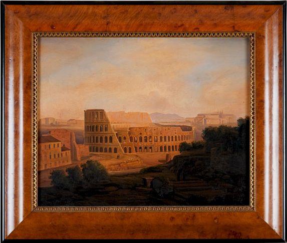 Le Colisée à Rome - Ecole Italienne - XIXe siècle - VENDU - SOLD -
