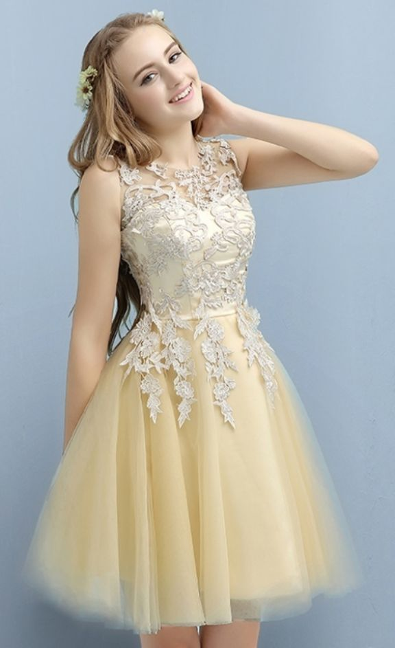 Applique Short Cocktail Dresses for Juniors, Lace Homecoming Dresses, Cute Prom Party Dress