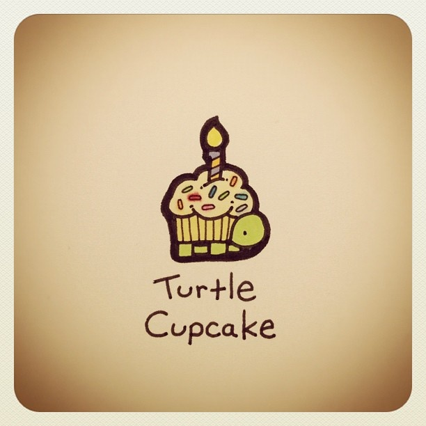 Turtle Cupcake #turtleadayjuly - @turtlewayne- #webstagram