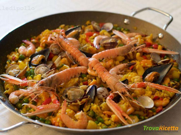 Paella di pesce e verdure #ricette #food #recipes