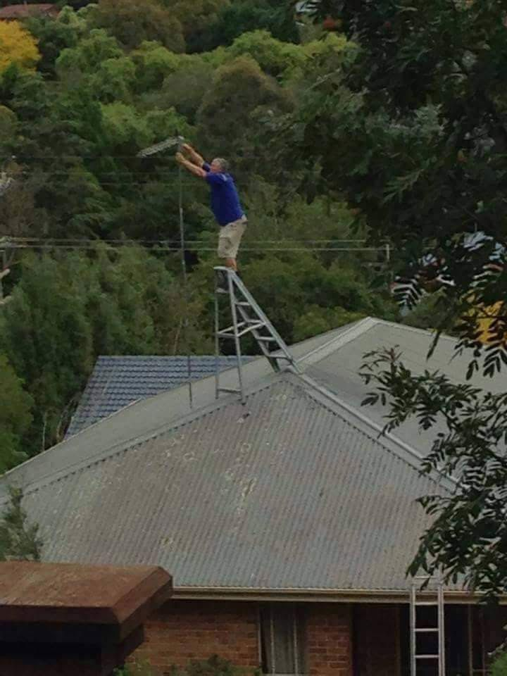 #ladder #safety methods reaching new heights here!