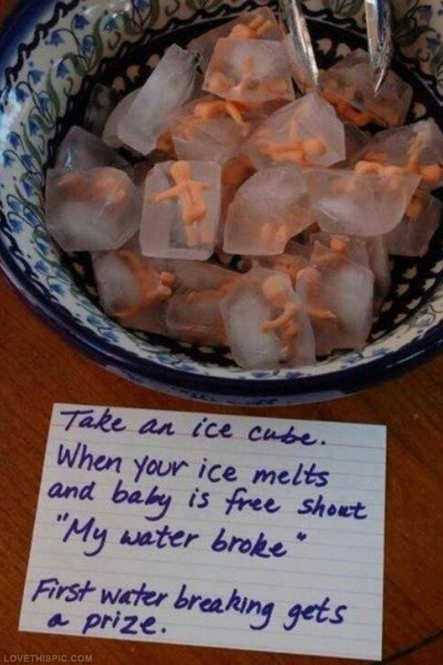 This is cute and funny because there's a baby in an ice cube ha
