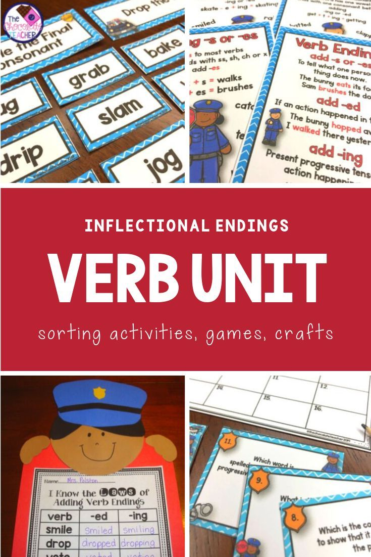 Verbs With Inflectional Endings Activities Games And Worksheets Inflectional Endings Language Arts Unit Language Art Activities [ 1102 x 735 Pixel ]