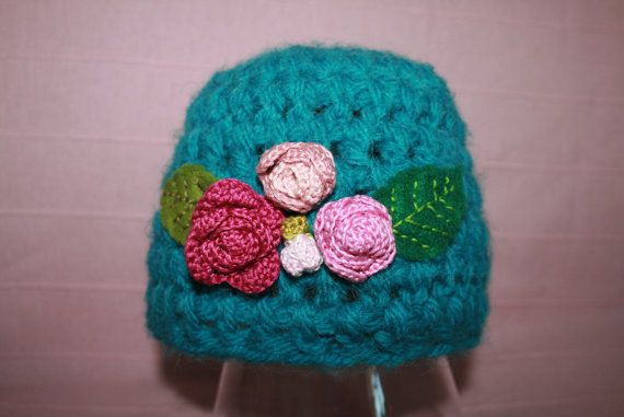 cute crochet  beanie by MadameBonneterie on Etsy, €15.00